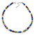 9-10mm Multicoloured Oval Freshwater Pearl Necklace - 41cm L/ 6cm Ext - view 7