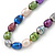 9-10mm Multicoloured Oval Freshwater Pearl Necklace - 41cm L/ 6cm Ext - view 2