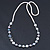 White, Grey Shell Pearls with Crystal Glass Beads Long Necklace - 80cm L - view 6