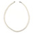 7mm White Acrylic Bead Necklace In Silver Tone - 37cm L