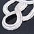 Statement Bib Style Mesh Necklace In Light Silver Tone Metal - 40cm L/ 4cm Ext/ 10cm Bib - view 3