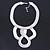 Statement Bib Style Mesh Necklace In Light Silver Tone Metal - 40cm L/ 4cm Ext/ 10cm Bib - view 5