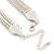 Statement Bib Style Mesh Necklace In Light Silver Tone Metal - 40cm L/ 4cm Ext/ 10cm Bib - view 4
