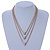 3 Strand Mesh Layered Necklace with Crystal Rings In Gold/ Rose Gold/ Silver Tone - 54cm L/ 4cm Ext - view 3
