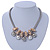 Silver Tone Chunky Mesh Chain with Gold Rings, Pearl and Metal Ball Necklace - 42cm L/ 9cm Ext - view 2