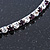 Thin Deep Purple/ Clear Austrian Crystal Choker Necklace In Rhodium Plated Metal - 33cm L/ 16cm Ext - view 4
