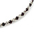 Thin Deep Purple/ Clear Austrian Crystal Choker Necklace In Rhodium Plated Metal - 33cm L/ 16cm Ext - view 6