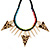 Statement Triangular Charm Black Chunky Chain With Multicoloured Silky Rope Necklace - 54cm L/ 7cm Ext - view 8