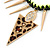 Statement Triangular Charm Black Chunky Chain With Multicoloured Silky Rope Necklace - 54cm L/ 7cm Ext - view 3