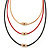 3 Strand, Beaded, Layered Mesh Chain Necklace In Black/ Red/ Gold Tone - 86cm L - view 5