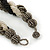 Black/ Grey/ Transparent Glass Bead Twitsted Necklace - 50cm L - view 4