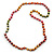 Long Multicoloured Round Bead Necklace - 114cm L - view 5