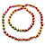 Long Multicoloured Round Bead Necklace - 114cm L - view 6