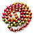 Long Multicoloured Round Bead Necklace - 114cm L - view 4