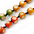 Long Multicoloured Round Bead Necklace - 114cm L - view 3
