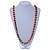 Long Multicoloured Round Bead Necklace - 114cm L - view 7