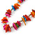 Long Multicoloured Sea Shell Nugget Necklace - 98cm L - view 3