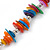 Long Multicoloured Sea Shell Nugget Necklace - 98cm L - view 4