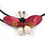 Shell Butterfly and Freshwater Pearl Flower Flex Wire Choker Necklace - Adjustable - view 6