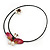 Shell Butterfly and Freshwater Pearl Flower Flex Wire Choker Necklace - Adjustable - view 8