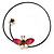 Shell Butterfly and Freshwater Pearl Flower Flex Wire Choker Necklace - Adjustable - view 9