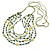 Long Multistrand, Layered Green, Olive Sea Shell Bead Necklace with Suede Cord - Adjustable - 72cm/ 110cm L - view 5