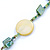 Long Multistrand, Layered Green, Olive Sea Shell Bead Necklace with Suede Cord - Adjustable - 72cm/ 110cm L - view 4