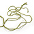 Long Multistrand, Layered Green, Olive Sea Shell Bead Necklace with Suede Cord - Adjustable - 72cm/ 110cm L - view 6