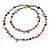 Long Multicoloured Shell Nugget and Glass Crystal Bead Necklace - 110cm L - view 4