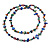 Long Multicoloured Shell Nugget and Glass Crystal Bead Necklace - 120cm L - view 3