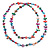 Long Multicoloured Shell Nugget and Glass Crystal Bead Necklace - 120cm L - view 10