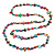 Long Multicoloured Shell Nugget and Glass Crystal Bead Necklace - 120cm L - view 12