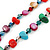 Long Multicoloured Shell Nugget and Glass Crystal Bead Necklace - 120cm L - view 9
