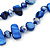 Two Row Blue Shell And Glass Bead Necklace - 44cm L/ 6cm Ext - view 6