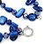 Two Row Blue Shell And Glass Bead Necklace - 44cm L/ 6cm Ext - view 4