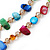 Two Row Multicoloured Shell Nugget and Nude-coloured Glass Crystal Bead Necklace - 44cm L/ 6cm Ext - view 9