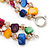 Two Row Multicoloured Shell Nugget and Nude-coloured Glass Crystal Bead Necklace - 44cm L/ 6cm Ext - view 10