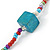 Long Multicoloured Tiny Round Glass and Cube Wood Bead Necklace - 126cm L - view 4