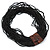 Black Glass Bead Multistrand, Layered Necklace With Wooden Square Closure - 64cm L - view 8