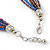 Multistrand Purple/ Bronze/ Violet Blue Glass Bead Collar Style Necklace In Silver Tone Metal - 42cm L/ 4cm Ext - view 4