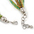 Multistrand Green Glass Bead Collar Style Necklace In Silver Tone Metal - 42cm L/ 4cm Ext - view 4