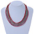 Multistrand White/ Raspberry/ Purple/ Turquoise Glass Bead Collar Style Necklace In Silver Tone Metal - 42cm L/ 4cm Ext - view 2