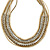 Multistrand Bronze/ Metallic Silver/ Transparent Glass Bead Collar Style Necklace In Silver Tone Metal - 42cm L/ 4cm Ext - view 6