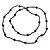 Black Glass Bead Long Sinlge Strand Necklace - 106cm L - view 4