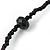 Black Glass Bead Long Sinlge Strand Necklace - 106cm L - view 5