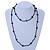 Black Glass Bead Long Sinlge Strand Necklace - 106cm L - view 2