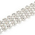 Statement 4 Row Clear Crystal Choker Necklace In Silver Tone - 29cm L/ 12cm Ext - view 4