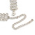 Statement 4 Row Clear Crystal Choker Necklace In Silver Tone - 29cm L/ 12cm Ext - view 5