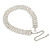 Statement 4 Row Clear Crystal Choker Necklace In Silver Tone - 29cm L/ 12cm Ext - view 6