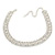 Statement Clear Crystal Choker Necklace In Silver Tone Metal - 30cm L/ 10cm Ext - view 8